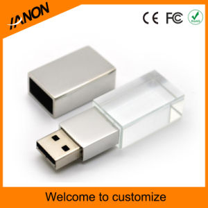 Crystal USB Flash Drive Crystal and Metal USB Stick with Laser pictures & photos