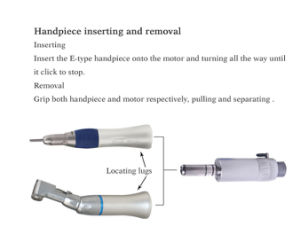 Dental Handpiece with External Water Spray Low Speed Handpiece Latch pictures & photos