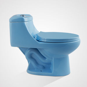 China Supplier Factory Price Ceramic Cycle Flushing Blue Sanitary Ware