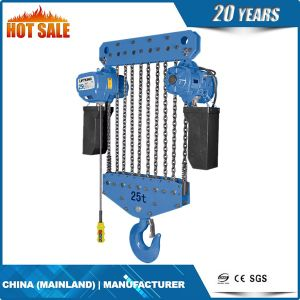 20t Kito Type Electric Chain Hoist with Electric Trolley pictures & photos