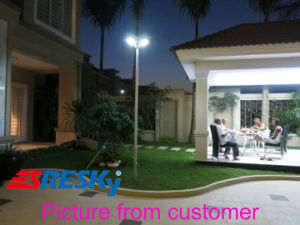 All in One Motion Sensor Light LED Solar Garden Lamp System Compact pictures & photos