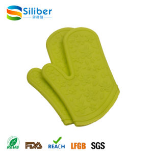Heat Resistant Silicone BBQ Grill Oven Gloves for Cooking, Baking