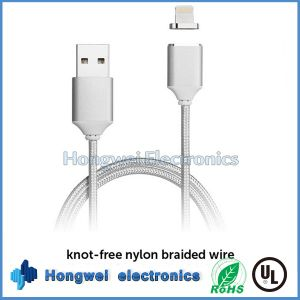 2.4A Braided Large Current Lightning Magnetic Charger Charging USB Cable