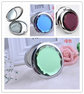 Promotional Advertising Gift -Customized Crystal Portable Cosmetic Make up Pocket Mirror pictures & photos