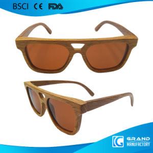 Fashion Eyewear Double Bridge Polarized Wooden Sunglasses pictures & photos