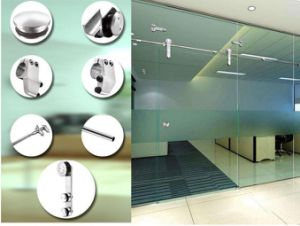 Frameless Door Stainless Steel Glass Door Sliding Hardware pictures & photos