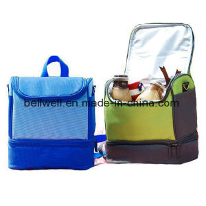 Soft Insulated Cool Wine Lunch Cooler Bag with Zip pictures & photos