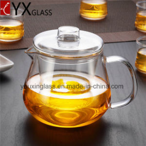500ml Hot-Sale Glass Teapot/Borosilicate Heat-Resistant Glass Tea Kettle/Water Carafe Turkish Tea Glass Flower Booming Tea Set pictures & photos