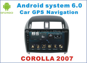 New Ui Android 6.0 Car GPS for Toyota Corolla 2007 with Navigation