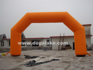 Inflatable Orange Entrance Arch for Advertising for Commercial pictures & photos