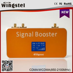 High Quality Dual Band CDMA/UMTS 850/2100MHz Mobile Signal Repeater with Antenna pictures & photos