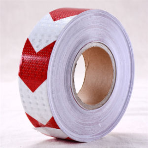 Self-Adhesive PVC Arrow Reflective Safety Warning Conspicuity Tape (C3500-AW) pictures & photos