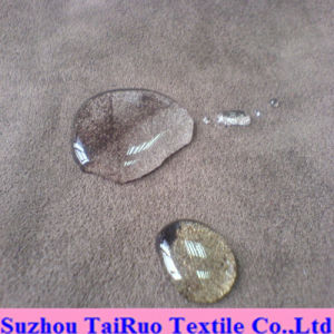Microfiber Suede with Composite Mesh for Sofa Fabric pictures & photos