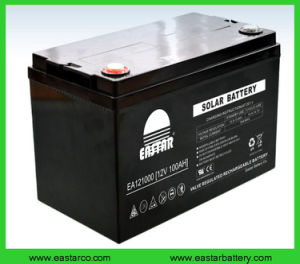 Long Life Deep Cycle Solar Gel Battery 12V 100ah pictures & photos