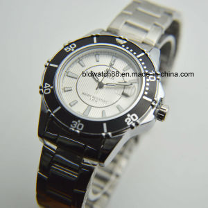 Ladies Fashion Stainless Steel Dress Watch for Gift Promotion pictures & photos