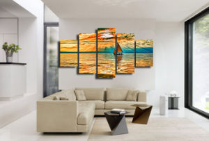 HD Printed Nebo Oblaka Luchi Ozero Painting Canvas Print Room Decor Print Poster Picture Canvas Mc-028 pictures & photos
