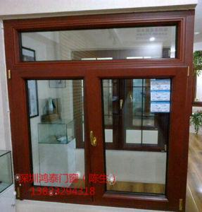 5mm Double Glazing Aluminum Wood Window pictures & photos