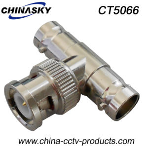 CCTV BNC Male to BNC Double Female Splitter Connector(CT50660 pictures & photos