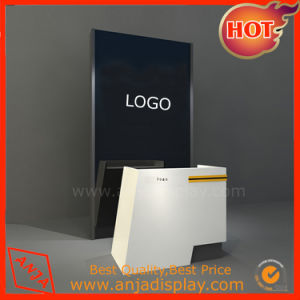 MDF/Melamine MDF/Painting Front Desk Reception Desk Checkout Counter for Jewelry/Clothes/Shoes Shops pictures & photos