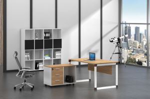 White Customized Metal Steel Office Staff Desk Frame with Ht96-1 pictures & photos