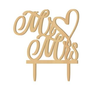 Unique Mr & Mrs Wood Wedding Cake Topper pictures & photos