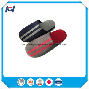New Style Check Fabric Daily Use Bedroom Slippers for Men pictures & photos