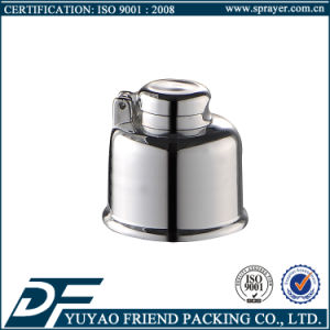Shiny Silver Flip Top Cap 24/410, Round Tube Flip Top Cap