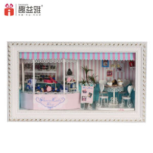 Assembling Wooden Mini Doll House Home Decoration pictures & photos