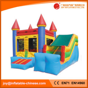 Inflatable Moonwalk/Jumping Castle Toy with Slide (T3-110) pictures & photos