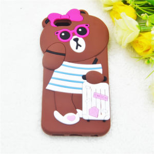 3D Cartoon Hat Bear Suitcase Bear Silicone Case for iPhone 6 6plus 7 7plus pictures & photos