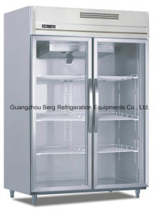 Glass Door Stainless Steel Refrigerator with Ce for Beer pictures & photos