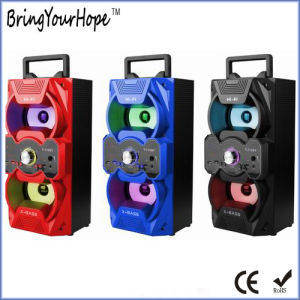 Portable Wooden Hi-Fi X-Bass Speaker with USB/SD/FM/Karaoke (XH-PS-718) pictures & photos
