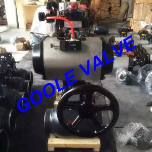 150lb/300lb/600lb/900lb Pneumatic Fully Welded Ball Valve (GARQ661PPL) pictures & photos