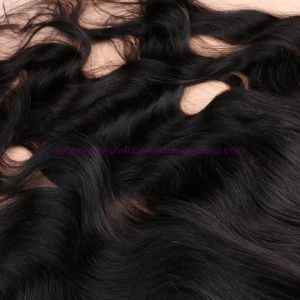 New! 8A Grade 13*4 Lace Frontal Closure with Bundles Human Mongolian Virgin Hair with Closure Can Be Dyed pictures & photos