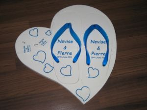 Palm Board Flip Flop Printed with Customer′s Logo pictures & photos