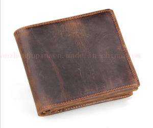 Custom Compact Leather Billfold Purse Wallet for Promotional Gift pictures & photos