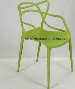 Moulded PP Plastic Stacking Dining Chair, Outdoor Garden Chair (LL-0052) pictures & photos