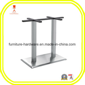 Furniture Hardware Parts Restaurant Stool Table Square Base with 2 Legs Aluminum pictures & photos