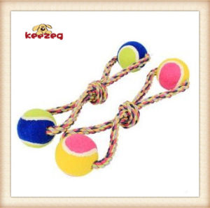 Dog Rope Toys with Two Tennis Balls/Pet Toy (KBR025) pictures & photos