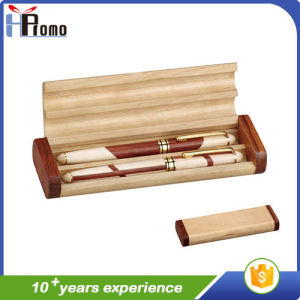 Promotion Gift Wooden Pen Box with/Without Pen pictures & photos