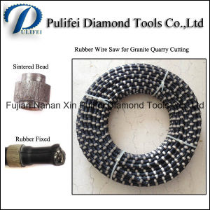 Rubber Plastic Spring Stone Diamond Rope Wire Saw pictures & photos
