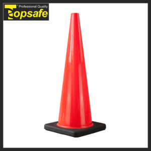 90cm/36inch Black Base Injected Soft PVC Road Traffic Safety Cone pictures & photos