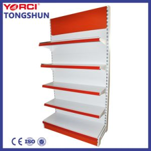 Supermarket Multi Layers Metal Double Sided Gondola Display Shelf with Different Colors pictures & photos