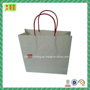 Paper Handle Kraft Paper Shopping Handbag pictures & photos