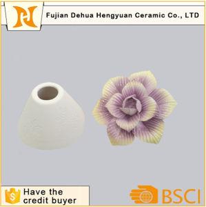 Custom Ceramic Perfume Bottle with Flower Cap pictures & photos