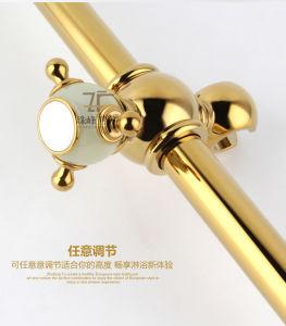 New Design Single Handle Zf-705-1 Jade Brass Shower Set pictures & photos