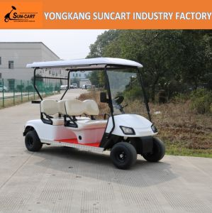 Golf Course Use 4 Seats Mini Golf Electric Car with Sun Shade, Ce Approved Electric Car pictures & photos