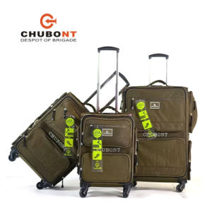 2017 Chubont Big Wheel Double Zipper Suitcase for Business pictures & photos