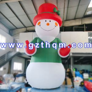 Big White Inflatable PVC Christmas Snowman/Christmas Advertising Inflatable Decoration pictures & photos