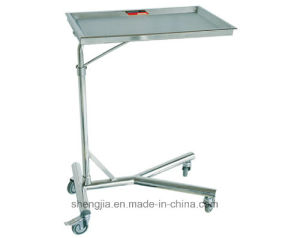 Sjt018 Tray Stand with One Post (which can raised and lowered)